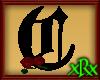 Gothic Letter C Roses