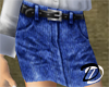 Belted Jean skirt (drkb)