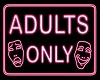 Club Neon Sign Adults