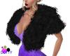 Black fur coat layerable