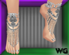 Jeweled Anklet Silver