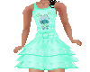 Flat Green Ruffle dress
