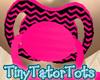 Kids Pink Black Pacifier