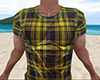 Yellow Wet Shirt Plaid M