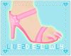 .L. Blush Paw Heels