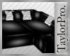 [T] Glossy Black Sofa