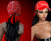 [ZA] RED HAT & BLK HAIR