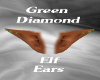 Green Diamond Elf Ears