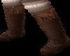 flat brown boot n sock
