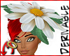 Daisy Hat - White