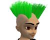Green Double Mohawk Hair