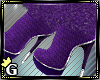 Knitted fur boots purple