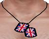 Uk Brit british dog tags