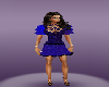 Blue Purple Party Dress