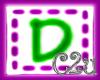 C2u letter D Sticker