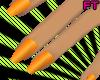 $- Orange nails.