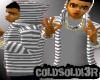 [LF] Gry+W Stripy Hoodie