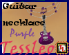 Guitar necklace purple