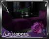 Purple Rose Bench