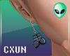Satan Earrings v1 M L+R