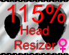 *M* Head Resizer 115%