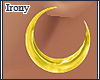 *X Gold Hoops