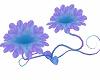 pruple teal flower seat