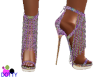 chained glitter sandals