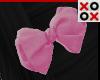 Pink Bow Hair Clip - L