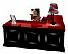 Black/Red Desk