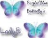 Blue/purple*Butterfly's
