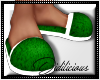 !D! PJ Slippers Green
