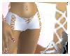 [c] White laced shorts
