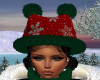 Red Snowflake Kitty Hat