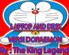 laptop doraemon in desk