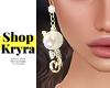 #K. White Pearl Earrings