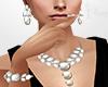 Silver Pearl Jewerly Set