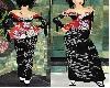 sweet black kimono