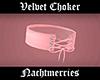 𝖓. Pink Velvet Choker