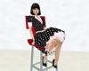 Black Polkadot Petticoat