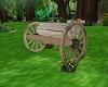 Aged Wagonwheel Bench