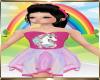 Kids Pink Unicorn Dress