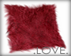 .LOVE. Dyed Fur Rug Red
