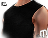 Raw black Tank Top