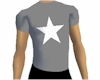 Cool White Star Tee