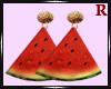Watermelon Gold Earrings