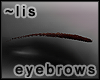 Eyebrows: choc brown