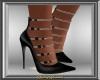 Blk & Silver Stilettos