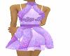 vestito piumino lilla