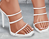 f. white square toe heel